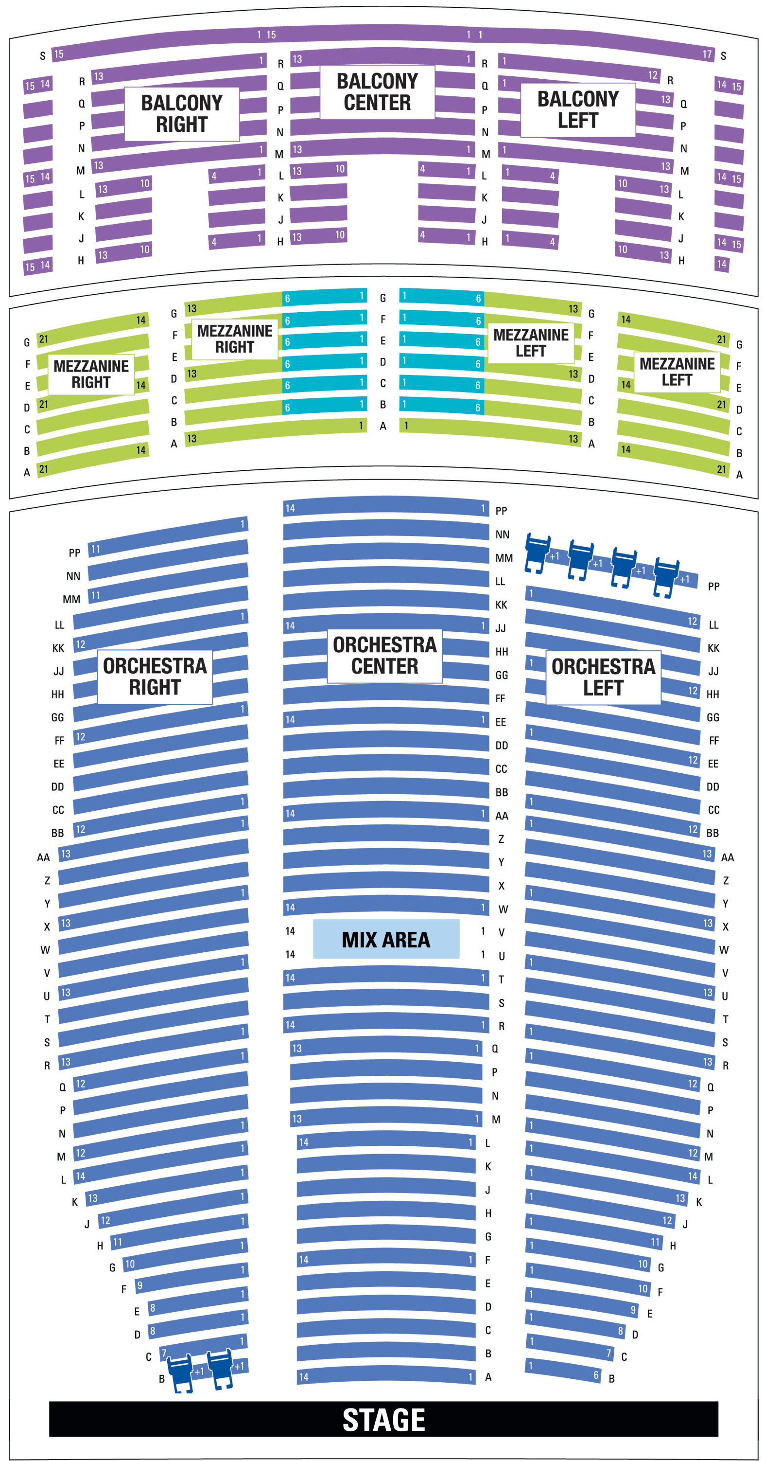 Paramount Denver Seating Map